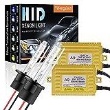 65W H1 Kit de Conversión de Xenón HID para Automóvil Balastos HID Ultrafinos Inicio Rápido Xenón Blanco Extremadamente Brillante 6000K