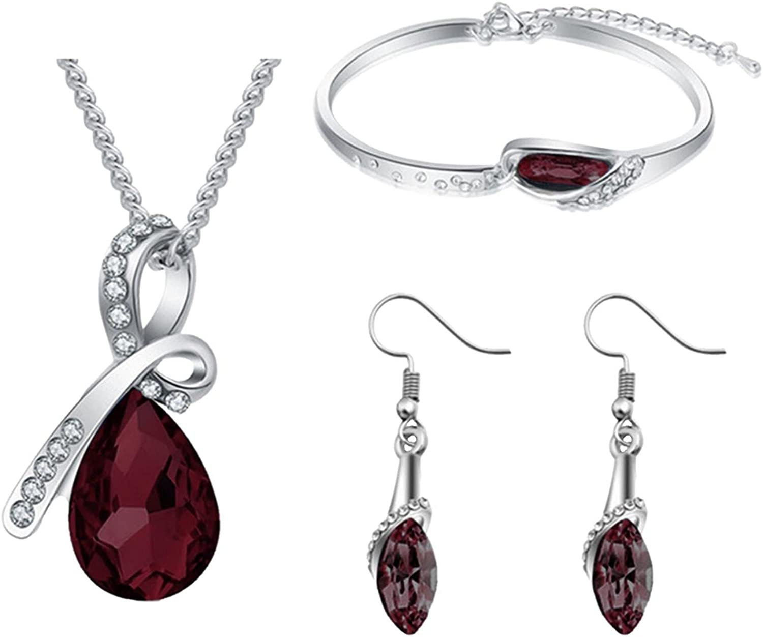 Women's Jewelry Set Personality Max 47% sold out OFF Classic Style Necklace Crystal E