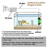 水族館流動床フィルター、耐久性のあるバイオバブル流動床フィルター、動物ペット水族館用水槽(Fluidized bed LH300)