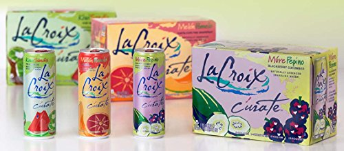 La Croix Curate Sparkling Water Variety, 12 oz Can (Pack of 24)