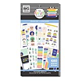 The Happy Planner Value Pack Sticker Sheets - Scrapbooking Supplies - Bookish Theme - Multicolor - Great for Journals, Scrapbooks & Albums - 680 Stickers
