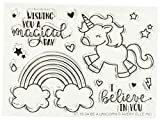 Avery Elleavery Elle Clear Stamp Set 10,2 cm x 3-inch-be Un Unicorno, Altri, Multicolore