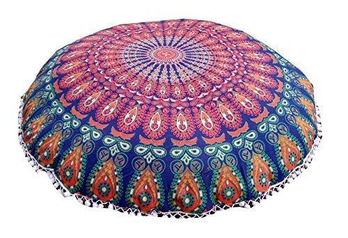 ICC 32 pulgadas almohadas de suelo y cojines decorativos hippie mandala puf almohada asiento meditación cojín bohemio funda...