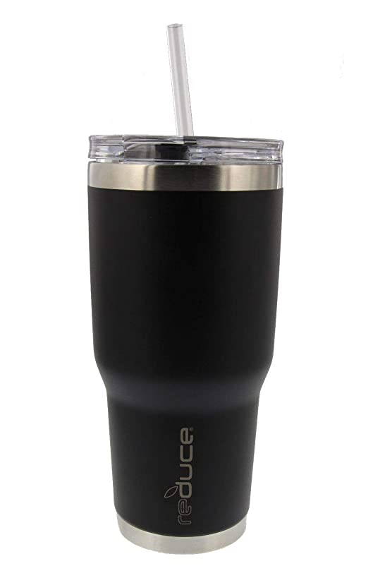 REDUCE COLD-1 Tumbler - 34oz Stainless Steel Insulated Tumbler With Straw & Lid - Reduce Insulated Tumbler Keeps Drinks Hot & Cold - A Perfect Water & Coffee Travel Mug For the Office, Car & Home