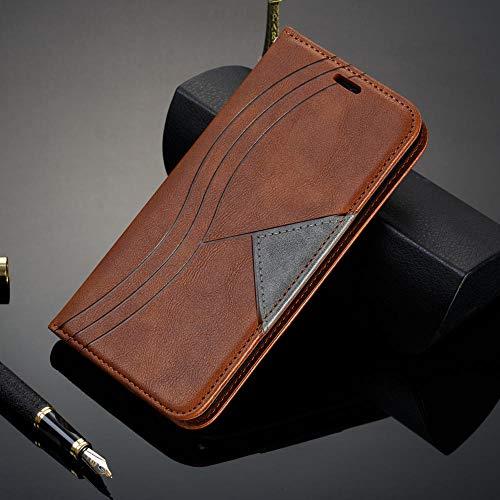 zhenshi Caja magnética de la Cubierta del Libro de la Cubierta de la Cartera de la Billetera de la Billetera del Flip para iPhone XR XS MAX 8 7 6S Plus (Color : Brown, Size : For iPhone XR)