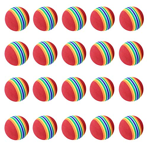 LIKOSO Practise Balles de Golf, 20 Pcs, Mousse, Rainbow, Couleur, pour l'intérieur/extérieur Golf...