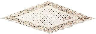 Women's 100% Silk Floral Diamond Handkerchief Scarf Ivory Beige