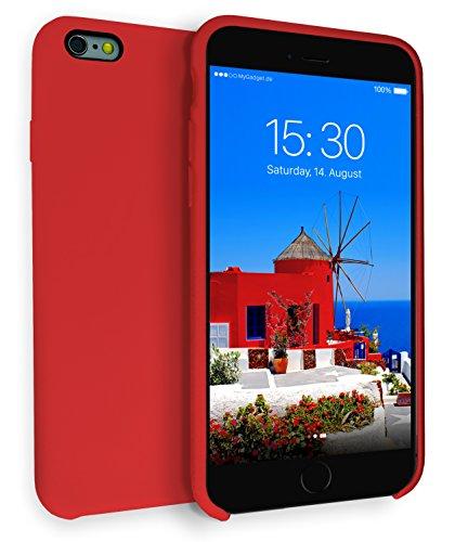 MyGadget Funda para Apple iPhone 6 Plus / 6s Plus - Soft Touch Case Antigolpes - Carcasa Protectora con Acabado en Silicona y Protección Interna - Rojo