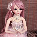 Y&D 1/3 BJD Doll 23.62 Inch 60CM Ball Jointed Dolls Reborn Figure + Full Set Accessories + Shoes + Hair + Clothes + Socks,B