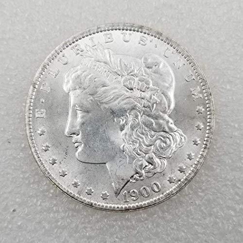 DDTing 1900 Estados Unidos Liberty Antique Morgan $1 Dólares - Gran Moneda Americana - Monedas Viejas de Estados Unidos - Estados Unidos Original Morgan Uncirculated Us Mint goodService