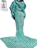 Cola de la Sirena, Fish-Scale - Manta de patrón cola de sirena todas las estaciones Manta de punto, Saco de dormir (180 verde)