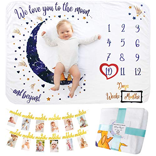 Baby Milestone Blanket With Birt...