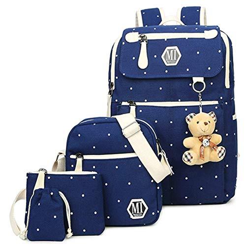 N/F Beautiful And Beautiful Canvas 4-piece Set/school School Bag College School Bag Teen Girls And Boys Rucksack Shoulder Bag