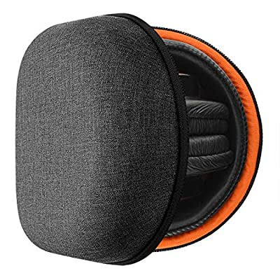 Geekria HardShell Headphone Case for Sony MDR-V6, MDR-V600, MDR-V900HD, MDR-V500, MDR-7506 and more/Hard Shell Headphone Case/Headset Travel Bag (Black Fabric, Compact Edition) by Geekria
