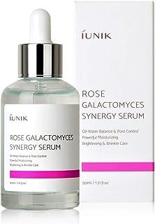 iUNIK Rose Galactomyces Synergy Anti-Aging Face Serum, 1.71 Fl Oz -Natural Fermented Rose Water Hydrating Ampoule Serum - Moisturizing, Brightening, Pore Minimizing, Anti-Aging – Korean Skin Care