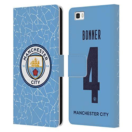 Head Case Designs Licenciado Oficialmente Manchester City Man City FC Gemma Bonner 2020/21 Kit Hogar Mujer Grupo 1 Carcasa de Cuero Tipo Libro Compatible con Huawei P8lite / ALE-L21