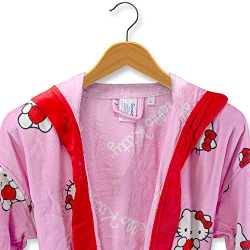 THEAILATI Albornoz Hello Kitty de rizo de terciopelo chinillado para mujer-M