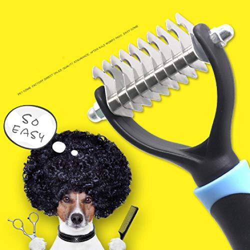 laoniu Nudo de Pelo para Mascotas Cuchillo para peinar Perro