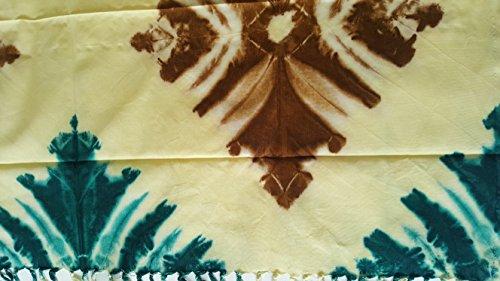 Butterfly Pareo de algodón con nudo (lazo de cera y tinte) (crema)