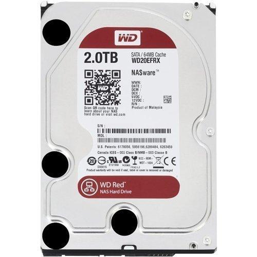 WD Red 2TB NAS Hard Disk Drive - 5400 RPM Class SATA 6 Gb/s 64MB Cache 3.5 Inch - WD20EFRX (Riconcodizionato Certificato)