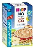 Hipp Bio-Milchbrei Gute-Nacht-Brei Hafer Apfel, 2er Pack (2 x 450g)