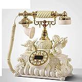 SXRDZ Teléfono Retro Teléfono Retro Teléfono Antiguo Teléfono Vintage Wire Wired Salon Coffee Decoration-A Home Desk Decor Ornament