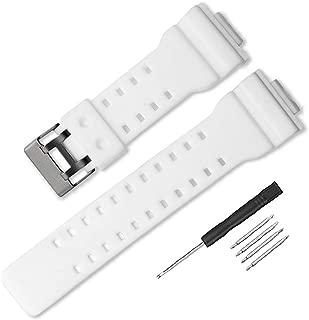 16mm Natural Resin Replacement Watch Band Strap for casio Mens G-Shock GA100 GA110 GA120 GA100C GD100 GD120