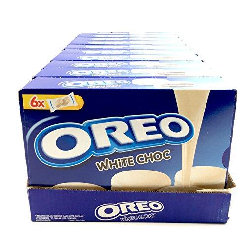 Oreo white choc biscotto cacao con ripieno alla vaniglia ricoperto di cioccolato bianco (10 x 246g)