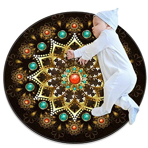 JHKHJ Alfombra infantil círculo alfombra, utilizado en la familia dormitorio sala de...