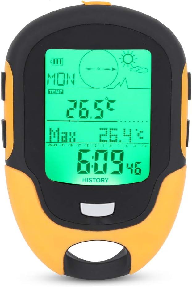 Altímetro De Coche, Impermeable, Retroiluminación LED, Barómetro, Termómetro, Higrómetro, Medidores Multifuncionales con Linterna para Escalada Al Aire Libre, Senderismo, Caza, Camping