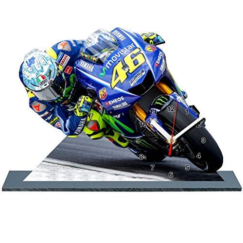 Valentino Rossi Moto GP - Reloj en miniatura con base 11