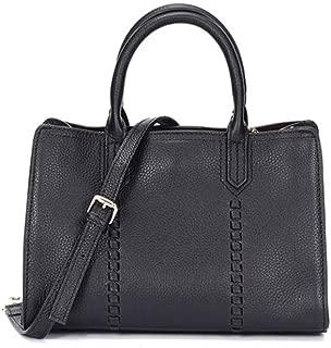 Fashion New Trend Casual Fashion Bills Shoulder Slung Small Leather Handbag (Color : Black)