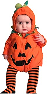 Infant Baby Girls Boys Halloween Costumes Pumpkin Bodysuit Zipper Hooded Romper Outfits Photography Props