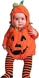 Muium Halloween Costumes for Toddler Newborn Baby Girls Pumkin Print Halloween Zipper Hooded Romper Bodysuit Costume