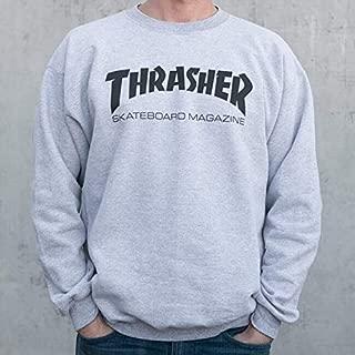 Thrasher Magazine Logo Grey Men's Crew Neck Sweatshirt - Medium