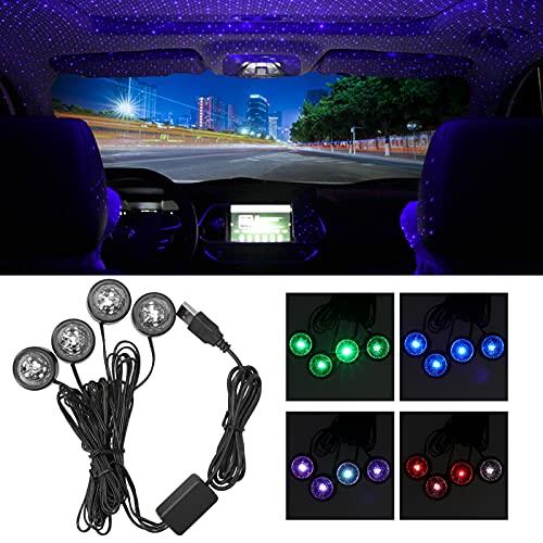 Lámpara del proyector del coche, iluminación interior del humor de la luz de la estrella del RGB LED USB de la luz ambiental automática para el club del hogar del vehículo