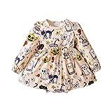 BIBOKAOKE Vêtements pour bébé fille T-shirt à manches longues Top Grenouillère 1 pièce Bébé nouveau-né fille Jupe Tenue d'été Vêtements pour bébé 0-2 ans