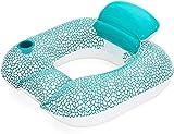 xyl Asiento de Agua, Tumbona de Anillo de natación con Respaldo, Tabla de natación Inflable, Equipo de Piscina, Cojines de Silla de natación Plegables