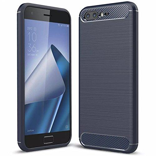 Handy Lux® Schutz Hülle Hülle Cover TPU Silikon für Motorola Moto Z3 Play, Blau