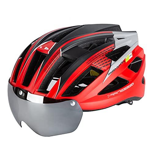 WANGFENG Casco de Bicicleta de montaña Aprobado por Dot/ECE con Gafas, Equipo para Deportes al Aire Libre Integrado