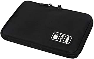 Multi-Functional Digital Storage Bag Traval Cable Organizer Bag Data Cable Charger Cable Electronic Storage Bag Electronic Accessories Carry Case 1pc Black