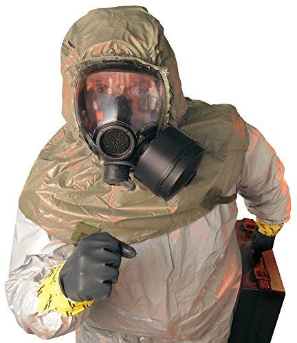MSA 10051286 Millennium Riot Control Gas Mask, Small, Clear