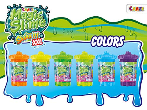 CRAZE 22245 MAGIC SLIME Shake it XXL Bunter Kinderschleim in Dose Magischer Schlamm für Kinder, mehrere Farbvariationen, 1000 ml