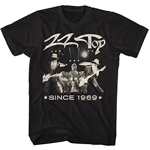 ZZ Top Since 1969 Black Adult T-Shirt Tee
