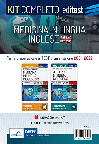 Test Medicina Inglese 2021: Kit completo. Con e-book e software di simulazione in omaggio