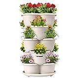 VIVOSUN 5 Tier Vertical Gardening Stackable Planter for Strawberries, Flowers, Herbs, Vegetables