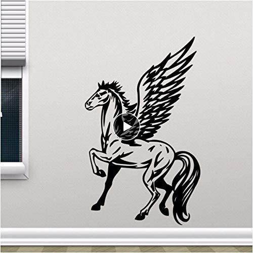 Xxscz gevleugelde paard Pegasus muursticker verwijderbare paard Vinyl muur Sticker Home Decor Kids slaapkamer behang verwijderbare muurschilderingen A