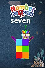 NUMBER BLOCKS SEVEN: NUMBER BLOCKS NOTEBOOK CONFETTI WRITING JOURNAL DIARY PLANNER GIFTS FOR KIDS GIRLS WOMEN