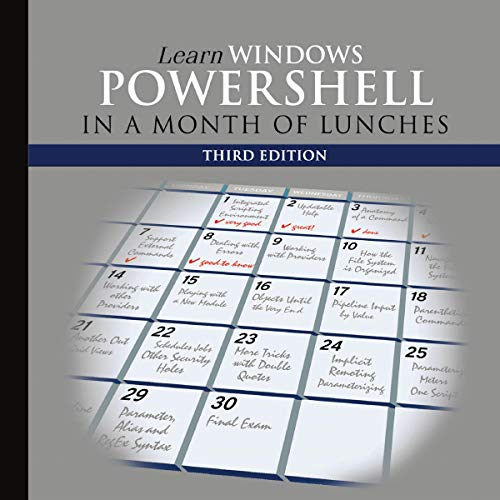 Learn Windows PowerShell in a Month of Lunches  By  cover art