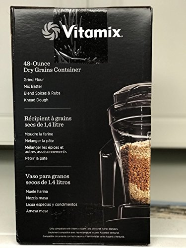 Vitamix Ascent Series Dry Grains Container, 48 oz. with SELF-DETECT